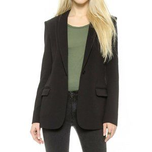 Norma Kamali Black Lined Boyfriend Career Blazer L